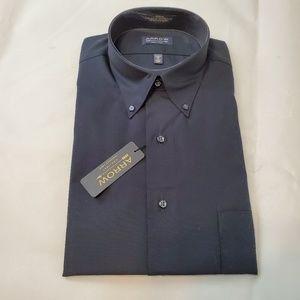 ARROW men's wrinkle free black dress shirt & tie